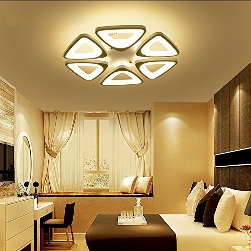 Contemporary Chandelier Head - LED Ceiling Lighting Fixture- Contemporary Chandelier for Dining Room, Living Room, and Bedroom: by Velette (Warm, 6 Heads)