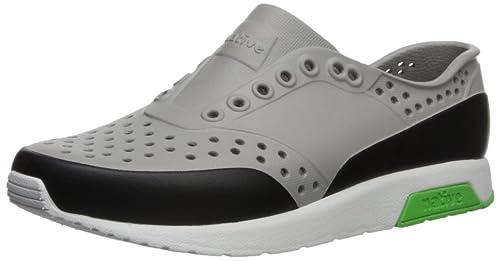 5bde1867dda72 Native Kids Block Print Lennox Water Proof Shoes , Pigeon Grey/Shell  White/Riddle