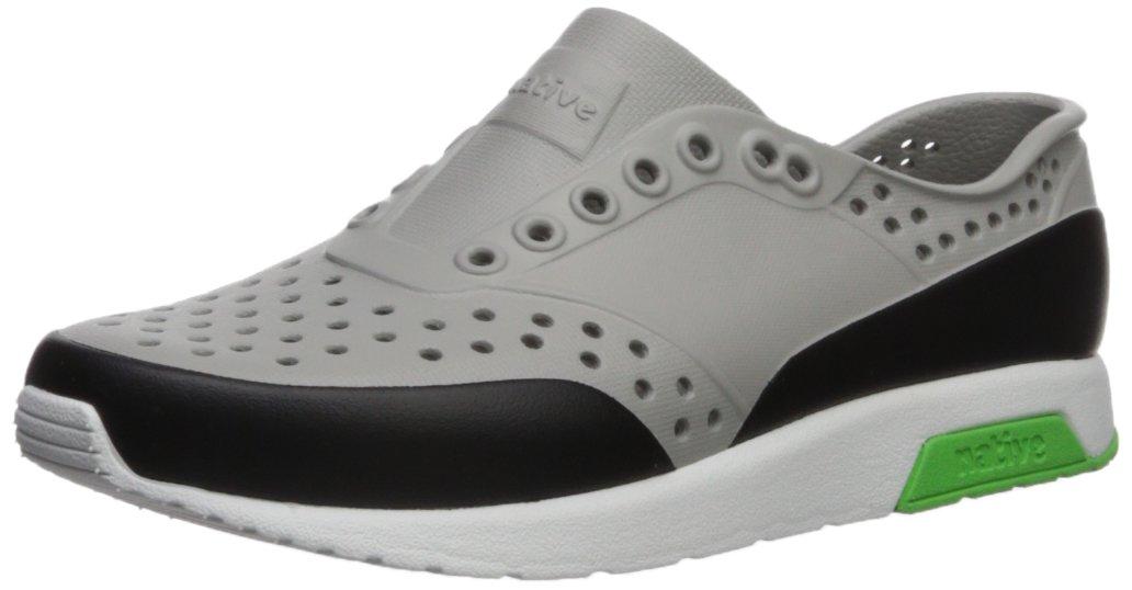 Native Kids Block Print Lennox Water Proof Shoes , Pigeon Grey/Shell White/Riddle Green/Jiffy Block, 1 Medium US Little Kid
