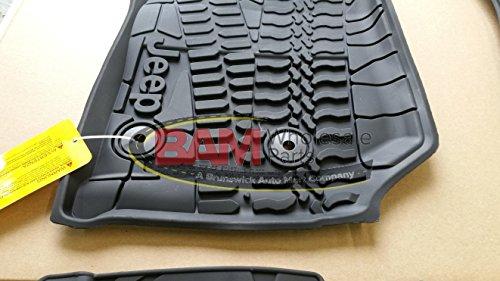 Mopar 2016-2018 Jeep Wrangler JK Unlimited 4 Door Slush Mats OEM Front and Rear Set (Mopar Slush Mats Jeep Wrangler 2 Door)