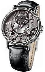 Breguet Tradition Black Skeleton Dial 18kt White Gold Black Leather Mens Watch 7027BBG99V6