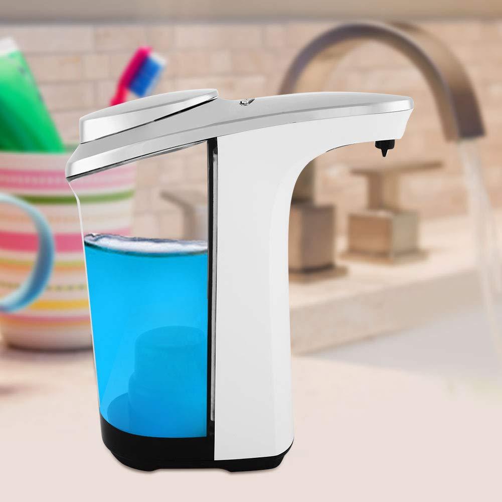 Pangding Dispenser di Sapone 500ml Touchless Sensore Automatico Schiuma di Sapone Dispenser Lozione Bagno Bagno Bianca