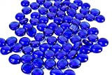 Dashington trade; 5 Pounds-flat Cobalt Glass Marbles for Vase Filler, Table Scatter, Aquarium Decor