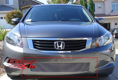 Aluminum Billet Grille Bolt Over for select Honda Accord Models ()