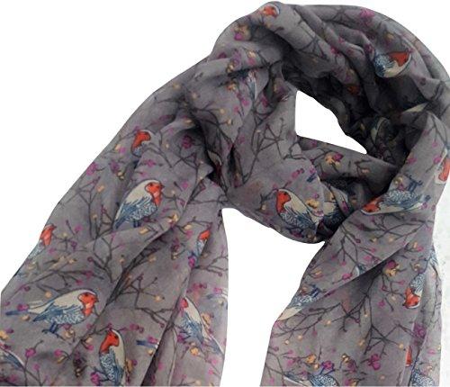 bufanda mujer de de Me gris petirrojo complementan Txawng