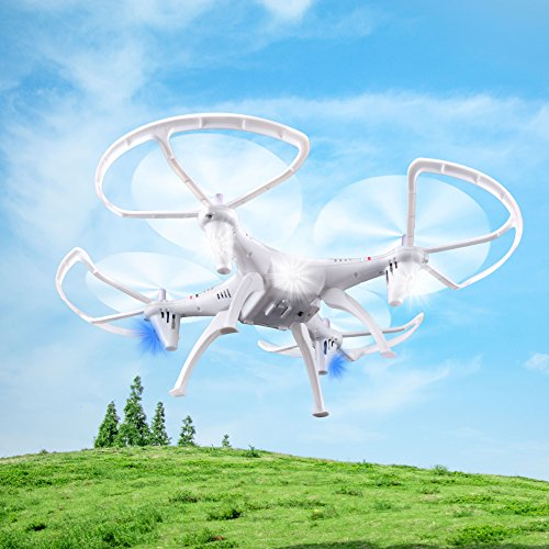 RC Helicopter Drone Quadcopter 2.4Ghz 6-Axis Gyro 4 ...  RC Helicopter D...