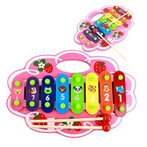 - Baidercor Strawberry 8 Tones Xylophone Portable Musical Toys