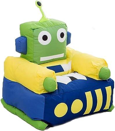 para Niños Mueble sofá, Tela De Nylon Cubrir EPS Partícula Lleno Tema Robot Verde Sillón (Size : 52×65×75cm): Amazon.es: Hogar