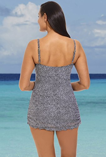 Shore Club Women S Plus Size Bedrock Ruffle Swimdress 18 Multi