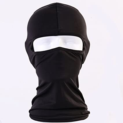 Unisex Outdoor Dustproof Lycra Cap Full Face Head Cover Mask Hat UV Protection Clothing, Shoes & Accessories