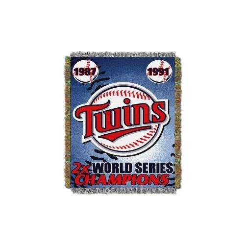 Commemorative Woven Mlb Tapestry Throw (MLB Minnesota Twins Commemorative Woven Tapestry Throw, 48