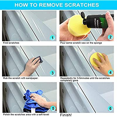 YOOHE Car Scratch Remover - Car Scratch Remover Polish, Scratch Removal for Cars and Swirl Remover, Easily Repair Light Car Scratches and Water Spots: Automotive