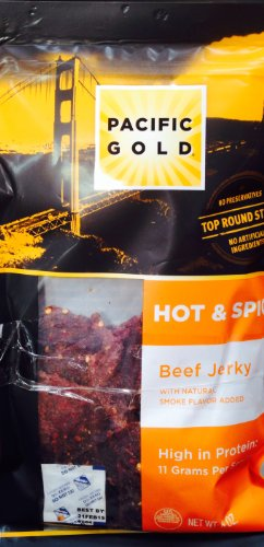 Pacific Gold Hot & Spicy Beef Jerky - 16 Ounce