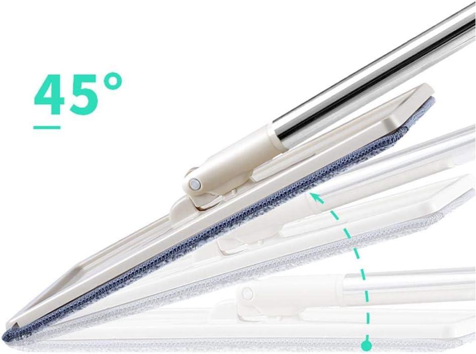 HUVE 360 Vadrouille T/élescopique De Vadrouille Microfibre /À Tige Plate Rotative avec Poign/ée en Acier Inoxydable Seau Et Lavette R/éutilisable Lavable pour Lavage De Mains