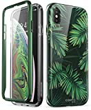iPhone Xs Max Case, i-Blason [Cosmo] Full-Body Bling Glitter Sparkle Clear Bumper Case with Built-in Screen Protector for iPhone Xs Max 6.5 inch (2018 Release) (Green)