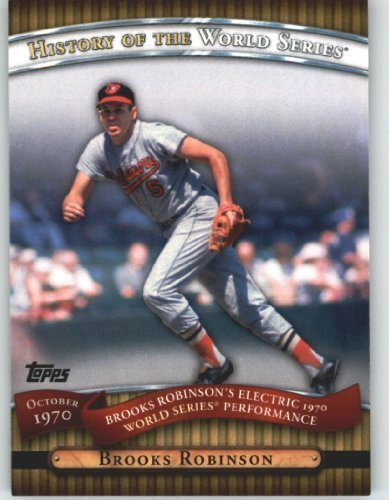 2010 Topps Series 2 Specialty Insert: History of the World Series Baseball Card #HWS16 Brooks Robinson ( Electric 1970 World Series performance ) Baltimore Orioles - MLB Trading Card (Upper Mlb Deck Series)