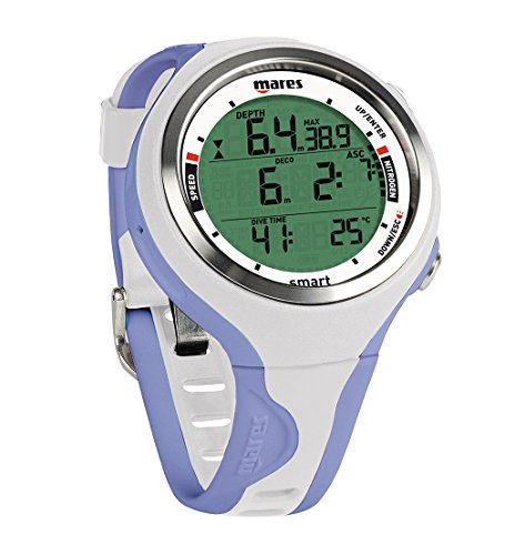 Mares Smart Wrist Dive Computer, White/Lilac