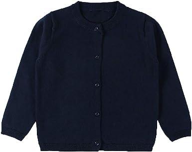 Long Sleeve Cotton with Pockets Sweater Classic School Uniform Crew Neck