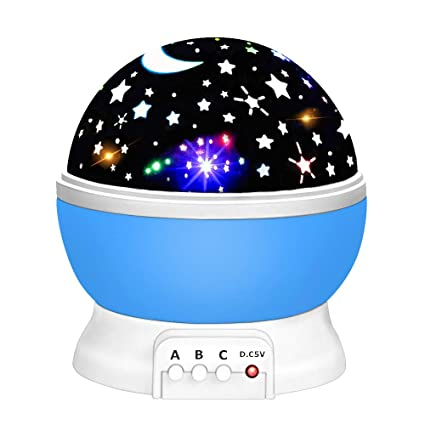 Romantic Amazing Cosmos Moon Colorful Master Star Sky Universal Night Light Kid Chidren Projector Lamp Christmas Gift Present Traveling Led Lamps