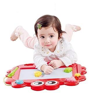 Sumferkyh Magnetic Drawing Board - Cancellabile Multi-Graffiti Writing Etching Sketch Pad Toy - Adatto per Bambini/Toddler / Baby 4 Stamps And 1 Pen, Red Tavolo da Disegno colorato