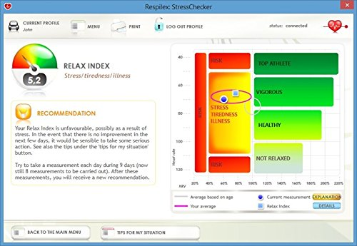 StressChecker, biofeedback product for Windows PCs and Windows tablets 8 & 10 for stress reading and sports training for health professionals, (sports)coaches and trainers. by Respilex (Image #2)