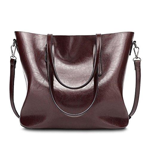 Dark Red Leather Bag: Amazon.com