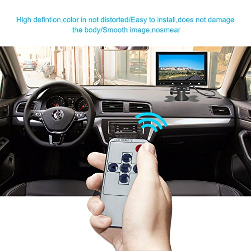 7 Inch TFT LCD Car Monitor 2 Video Input Vehicle Backup Display Car Rear View Monitor for Car Parking,Car DVD,VCR,Car Backup System,Home Security,with Remote Control by Cnhopestar by Cnhopestar (Image #4)