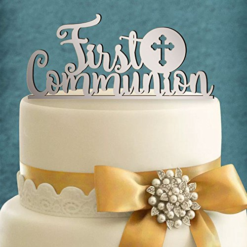 [USA-SALES] Baptism Christening, First Communion Balloons, Party Decorations, Qty. 20 pcs, by Usa-Sales Seller (First Communion Cake Topper Mirror -