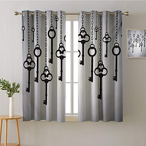 curtain kitchen window grommets fashion Darkening Curtains party Darkening Curtains Noise isolation Darkening Curtains Privacy Assured Window Treatment(1 Pair, 42