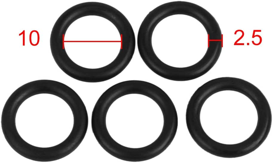 X AUTOHAUX 10pcs White Silicone Rubber O-Ring VMQ Seal Gasket Washer for Car 50mm x 3.1mm