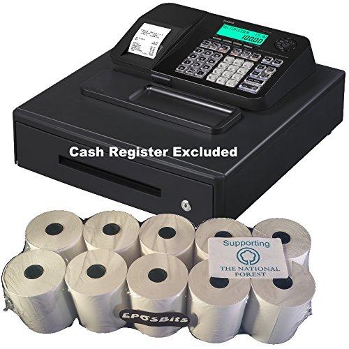 eposbits/® Marque rouleaux de Casio se-s100/ses100/ses se S100/100/Caisse enregistreuse Noir Grand tiroir/?/10/rouleaux