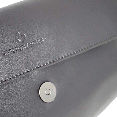 Taschenzauber®, Poschette giorno donna grigio Grau unisize