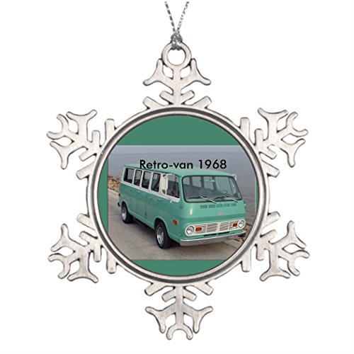 - Moc Moc Xmas Trees Decorated pin with retro van 1968 Personalized Snowflake Ornament Small Christmas Tree Decorating Ideas