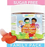 Best Fiber Gummies for Kids – Sugar Free Kids Fiber Gummies – Gluten Free Kids Gummy Vitamins for Constipation Relief – Large 60 Day Family Pack For Sale