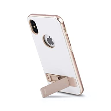 best sneakers 85d52 03be2 Moshi Kameleon Kickstand Case for iPhone XS/iPhone X (Coastal White)