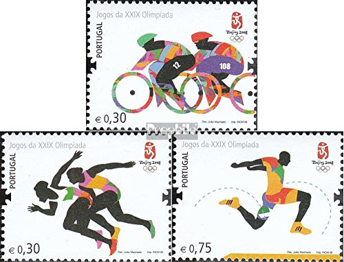Portugal 3276-3278 (complete.issue.) 2008 Olympics Summer´08 Beijing (Stamps for collectors) Beijing 2008 Summer Olympic Games