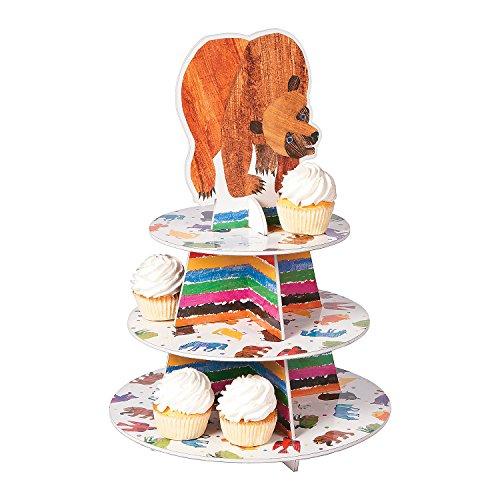 Fun Express - Brown Bear Cupcake Holder for Birthday - Party Supplies - Serveware & Barware - Misc Serveware & Barware - Birthday - 1 Piece -