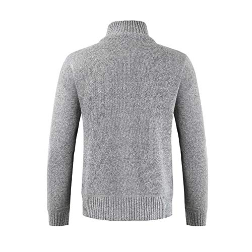 Sweater Outwear Coats Men Solid Mens Give Tops Coats Zipper Collar for Winter Stand Cardigan Gray koiu❀❀Winter wBSU0fqx07