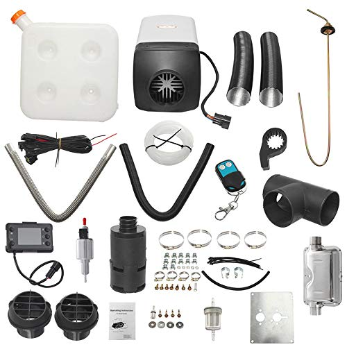 Acquisto 8kw / 12v LCD singolo con telecomando Silenziatore Riscaldatore d'aria diesel Accessori essenziali in bianco e nero Prezzi offerte