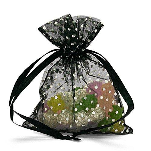 - Black Polka Dot Organza Bags 4
