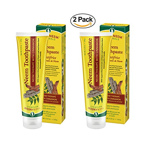 (Theraneem Organix Herbal Neem Toothpaste,With Cinnamon, 4.23 Ounce (Pack of 2) )