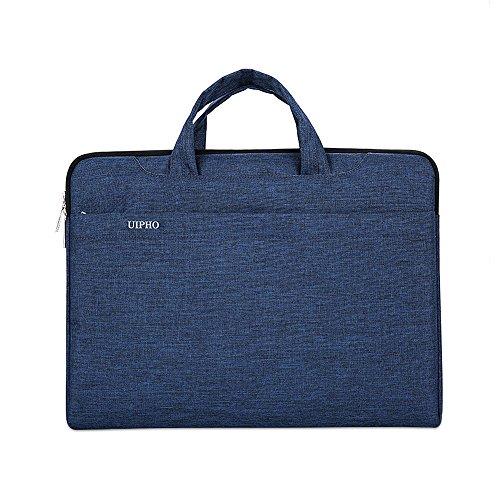 Jia HU 1Slim Laptop Aktentasche Portfolio Messenger Tasche Tote Computer Tablet Carry Business College rosarot dunkelblau