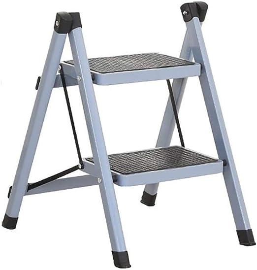LYJBT Metal Plegable Escaleras de Seguridad de 2 peldaños Ascendentes Taburetes de Cocina portátiles Inicio Escalera de Tijera Herramientas de jardín (Color : E): Amazon.es: Hogar