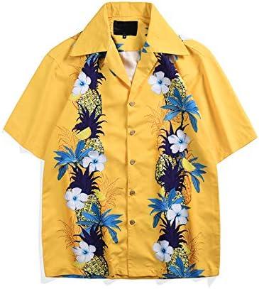 DXHNIIS Floral Impreso Lado Mar Vacaciones Hawai Camisa Hombres Verano Retro Camisas para Hombres Camisas de Hombre Tropical XXL Camisa Amarilla: Amazon.es: Deportes y aire libre