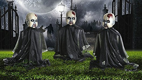 Set of 3 Zombie Baby Yard Stakes Halloween Decoration (Halloween Zombie Babies)