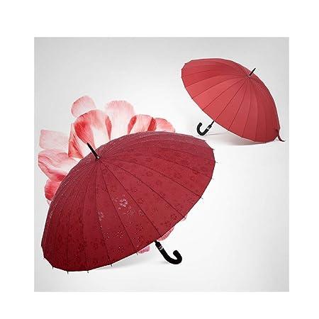 DYHOZZ 24 Paraguas de asa Larga, Paraguas Grandes de Doble ...