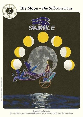 tarot card poster moon