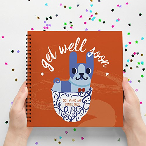 Get Well Soon, Gift Book Card To Fell Better Illness/Sick/Cheer Up Gifts/Surgery/Injury/Cold/Flu. Inspiring Messages Your Special Someone, Children, Couples, Co-Workers and Family Can't Miss. (Where To Get Baskets For Gift Baskets)