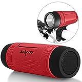 Zealot S1 Bluetooth Bicycle Speaker Outdoor Portable Speakers 4000mAh Power Bank Waterproof Speakers with Bike Mount Cycling Accessories (Red)