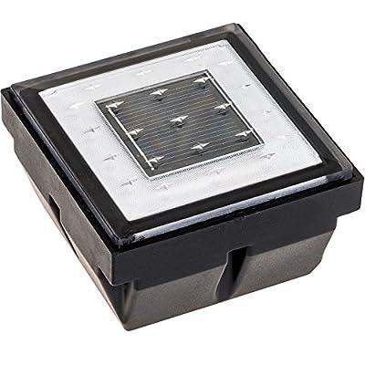 Square Recessed Solar Pathway Brick LED Light (White)